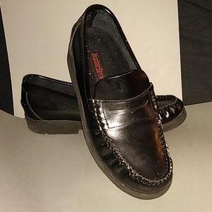 Boys slip-on penny loafers black dress shoe size 4
